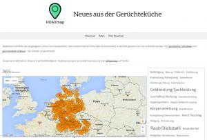 Screenshot: HOAXmap