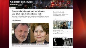 Screenshot – Mediathek ARD Livechat Amoklauf