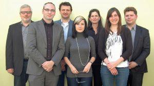 Jury 2012 mit Christoph Neuberger (3. v. l).; Foto: Grimme-Institut