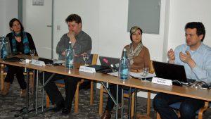 Jurysitzung 2012 mit Christoph Neuberger (r.) ; Foto: Grimme-Institut