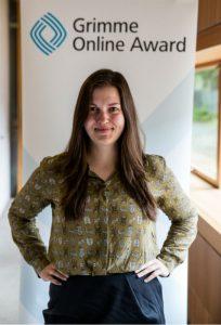 """Anna Stumpf von """"How To Opera"""" bei der Bekanntgabe der Nominierungen zum Grimme Online Award. Foto: Grimme-Institut / Arkadiusz Goniwiecha"""