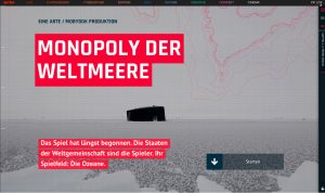 """Screenshot: Einstieg in die erste Web-Doku """"Monopoly der Weltmeere"""""""