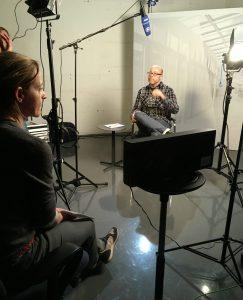 Produktion und Aufnahme der Kandidatenvideos. Foto: WDR