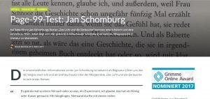 """Screenshot: Blick auf Seite 99 in der Literatur durch """"tell – Magazin für Literatur und Zeitgenossenschaft"""""""
