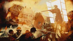 Filmstill: Das Massaker im Märkischen Sand. Illustration: Cosimo Miorelli