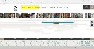 Screenshot: Der interaktive Zeitstrahl ist ein wichtiger Bestandteil des Kurses. Er ermöglicht es, Kunstgeschichte einmal anders zu erzählen.