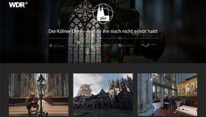 """Screenshot """"Der Kölner Dom in 360° und VR"""" vom WDR"""