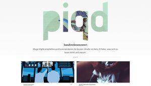 """Screenshot der Website """"piqd - handverlesenswert""""."""