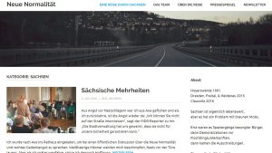 "Screenshot ""Neue Normalität"""