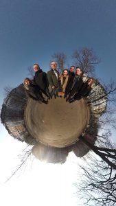 Die Nominierungskommission 2018 in 360°: (v.l.) Bettina Begner, Henning Grote, Michael Schwertel, Kübra Gümüsay, Leif Kramp, Christian Bartels und Tanja Banner. Foto: Michael Schwertel