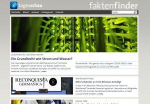 """Screenshot: """"Faktenfinder"""" von tagesschau.de"""