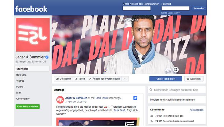 "Screenshot: Facebook-Seite ""Jäger & Sammler"""
