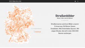 """Screenshot: Website """"Straßenbilder - Mozart, Marx und ein Diktator"""""""