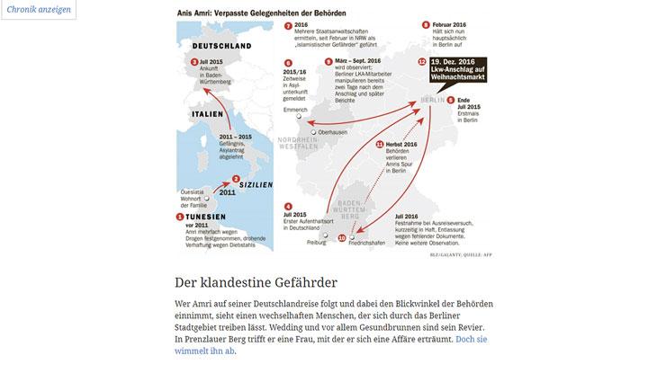 """Screenshot: Website """"Die Akte Amri"""""""