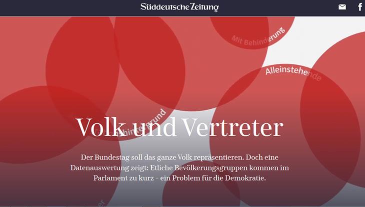 """Screenshot: Website """"Volk und Vertreter"""""""