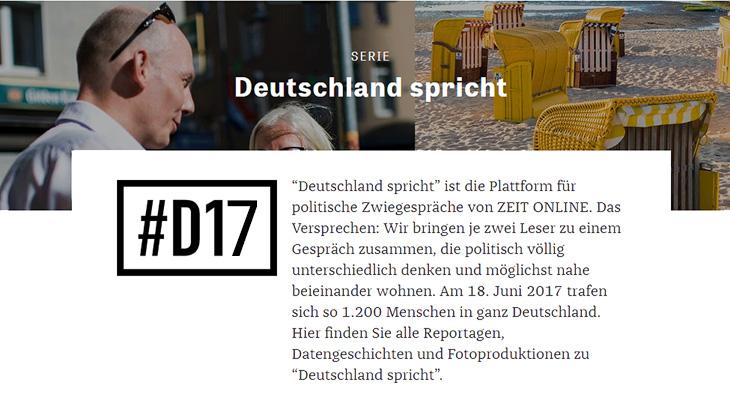 """Screenshot: Website """"Deutschland spricht"""""""