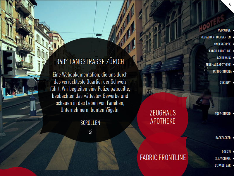 Screenshot: 360langstrasse.sf.tv