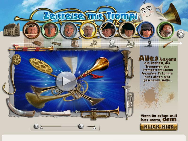 Screenshot: trompis-zeitreise.de