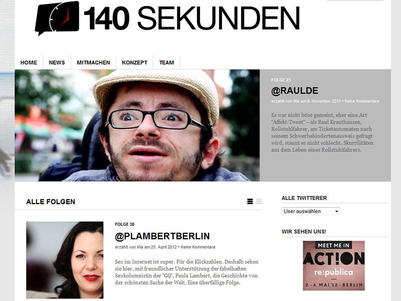 Screenshot: 140sekunden.de
