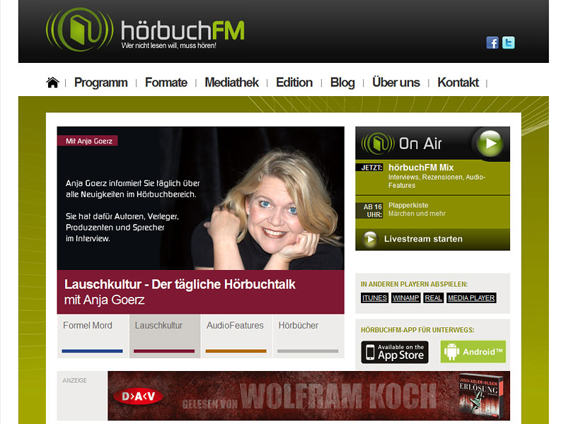 Screenshot: hoerbuchfm.de