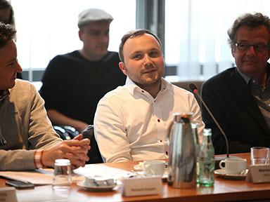Marcus Engert vom Angebot vox.publica von detektor.fm Foto: Grimme-Institut / Arkadiusz Goniwiecha
