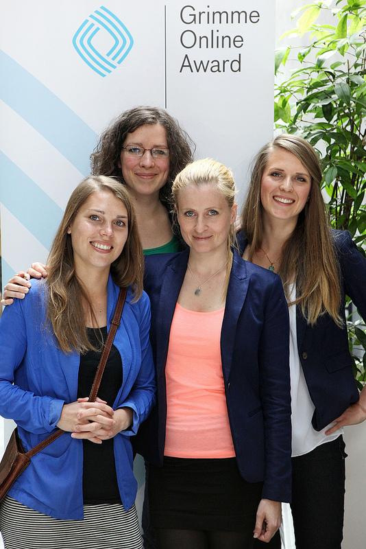 v.l. Vera Freitag, Ruth Krause, AntjeBinder und Greta Hamann von Plan B Foto: Grimme-Institut/Arkadiusz