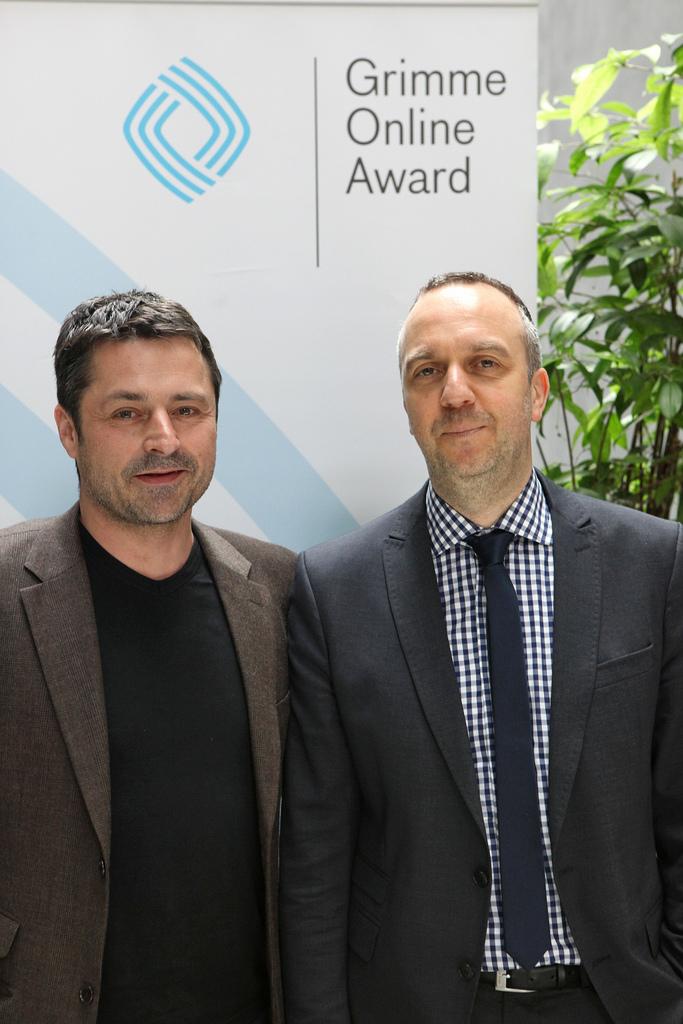 Martin Brandt und Burghard Schnödewind (FAUST II_PUNKT_NULL) Foto: Grimme-Institut/Arkadiusz Goniwiecha