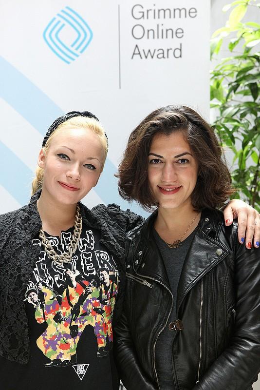 Charlotte Mellahn alias Visa Vie und Solmaz Sohrabi von RAPutationTV Foto: Grimme-Institut/ Arkadiusz Goniwiecha