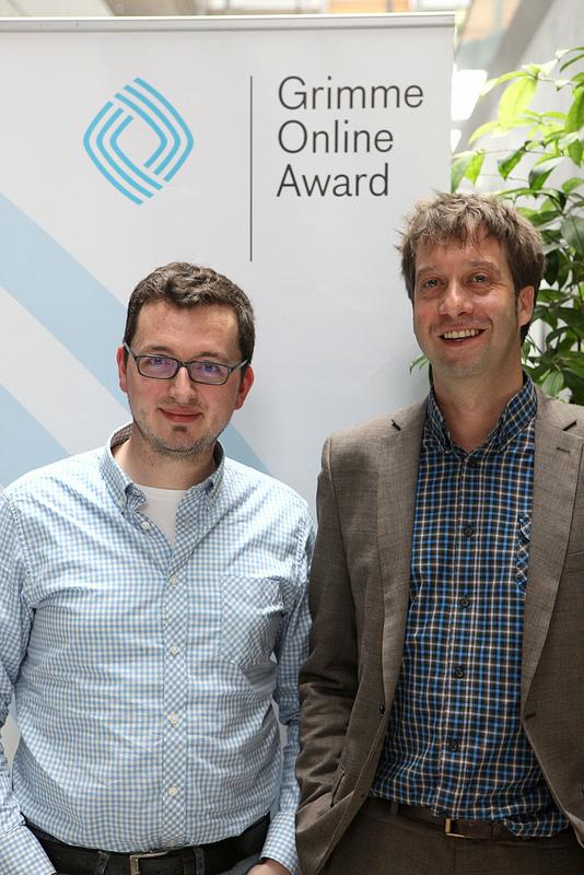 David Ohrndorf und Stefan Domke von WDR Digit Foto: Grimme-Institut/ Arkadiusz Goniwiecha