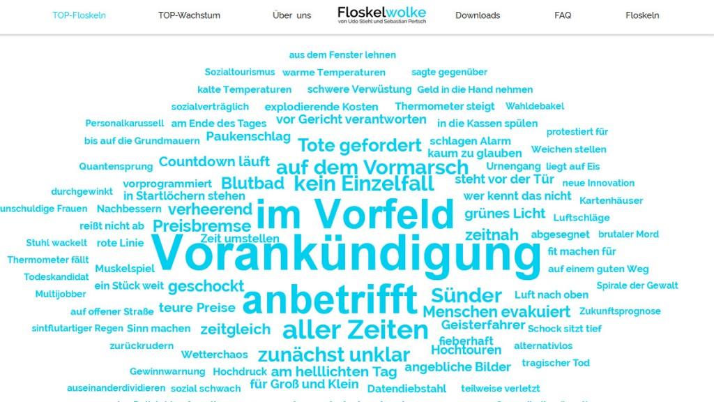"""Screenshot """"Floskelwolke"""""""