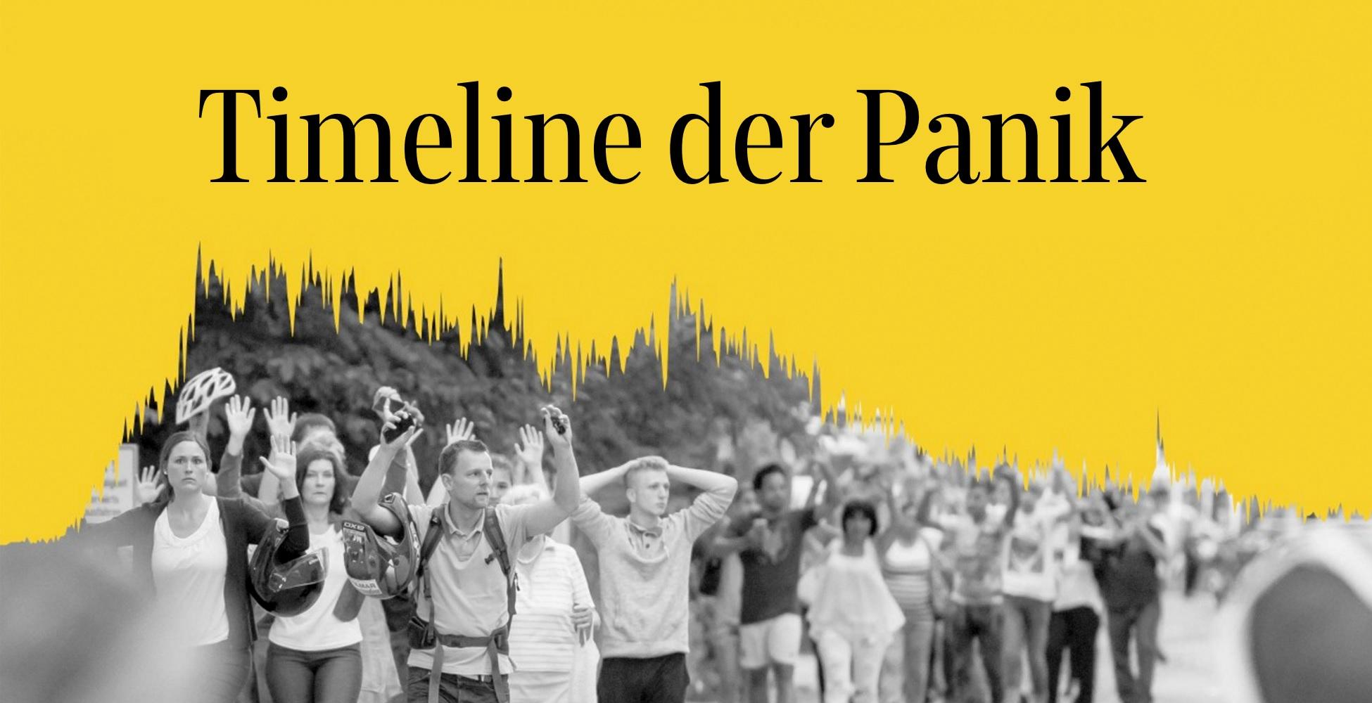 Der Artikel zu Timeline der Panik. Foto: Süddeutsche Zeitung.
