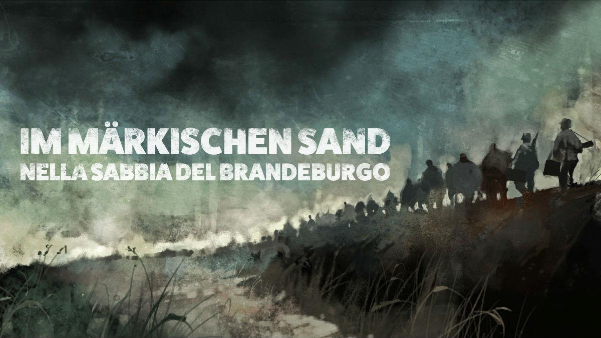 """Filmstill: Titel von """"Im Märkischen Sand"""". Illustration: Cosimo Miorelli"""