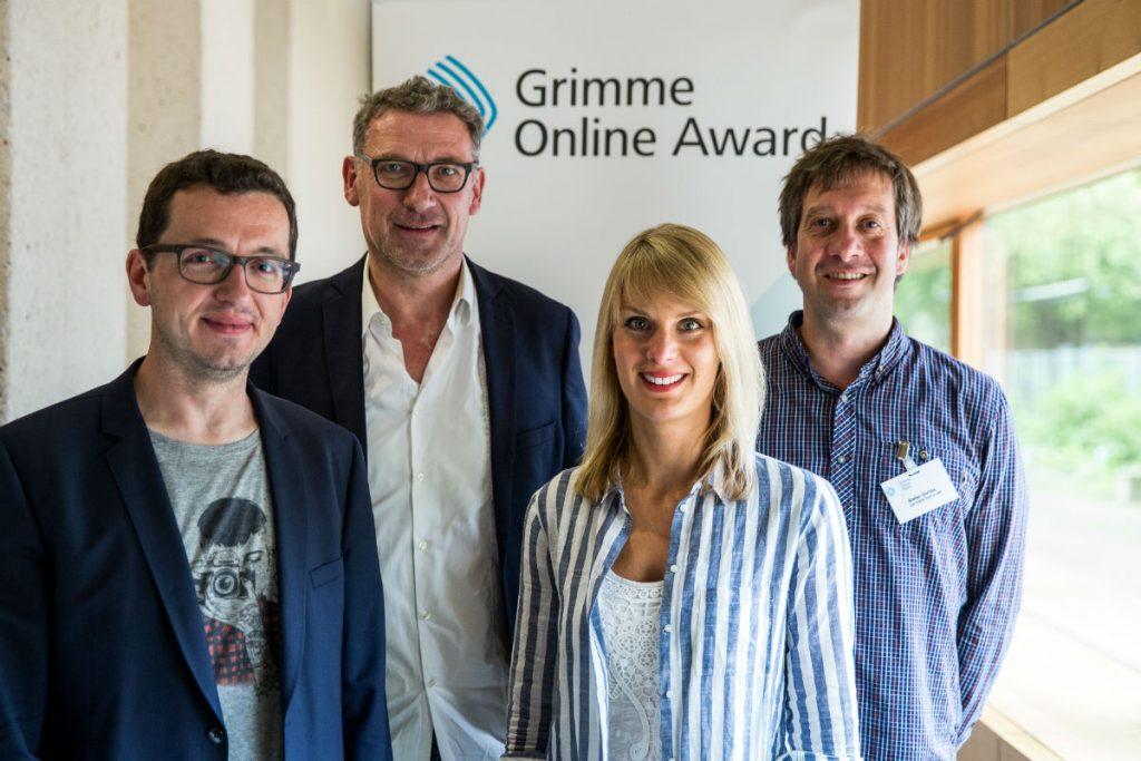 bei der Bekanntgabe der Nominierungen zum Grimme Online Award. Foto: Grimme-Institut / Arkadiusz Goniwiecha