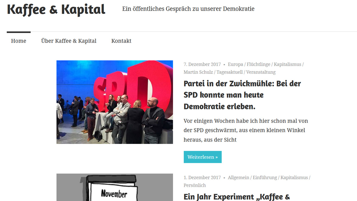 "Screenshot ""Kaffee & Kapital"""