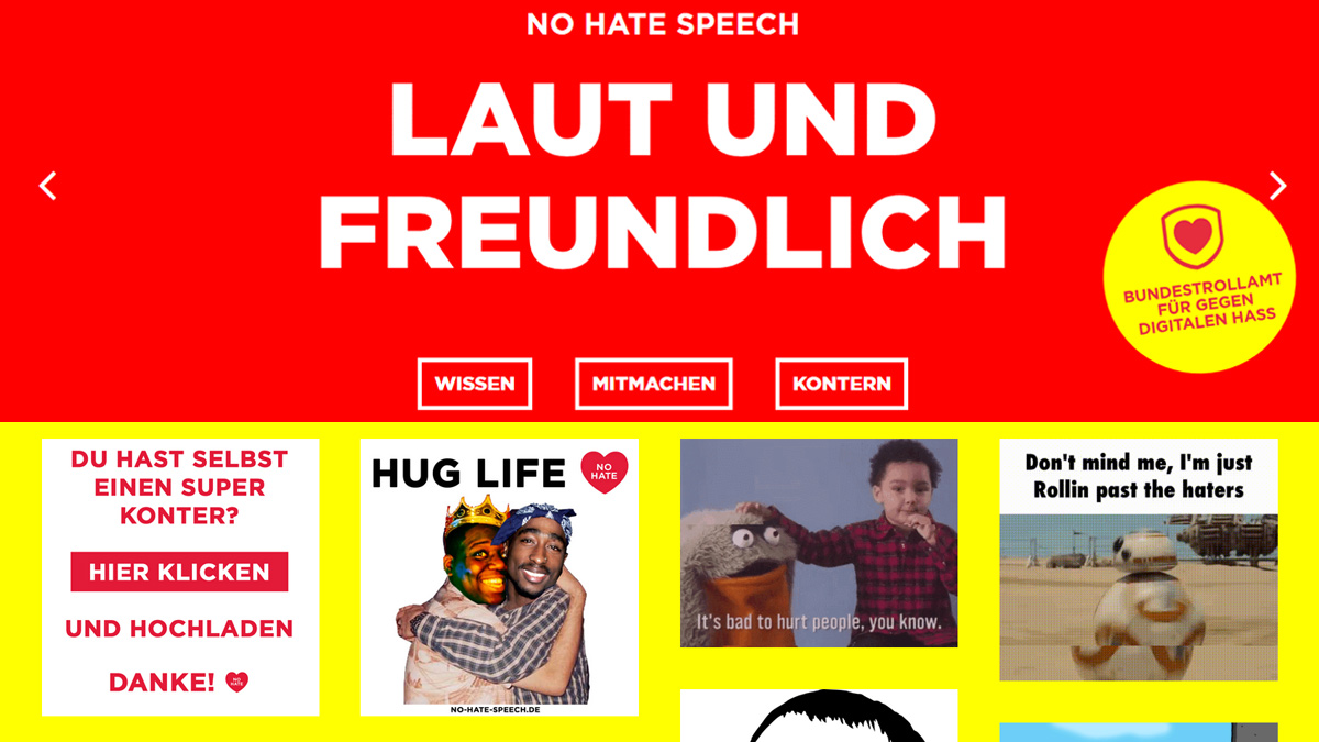 "Screenshot ""No Hate Speech"""