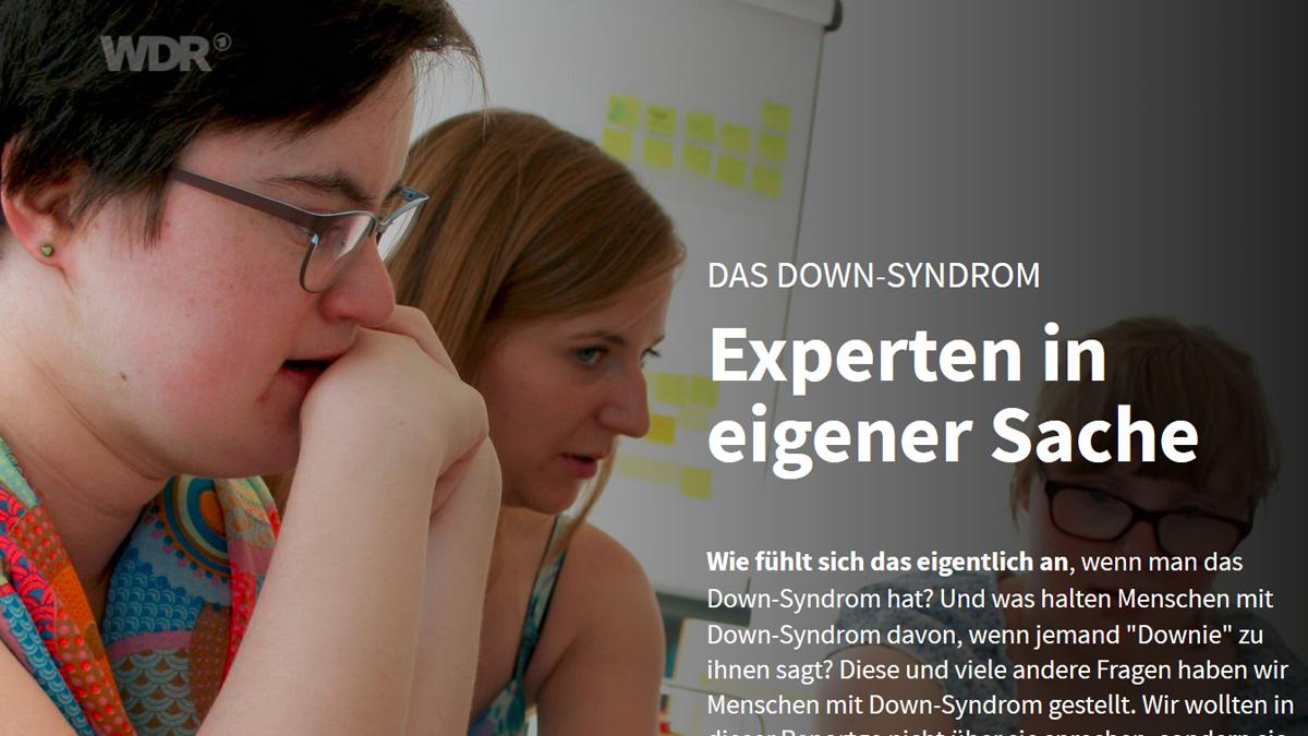 """Screenshot """"Down-Syndrom ist keine Krankheit"""""""