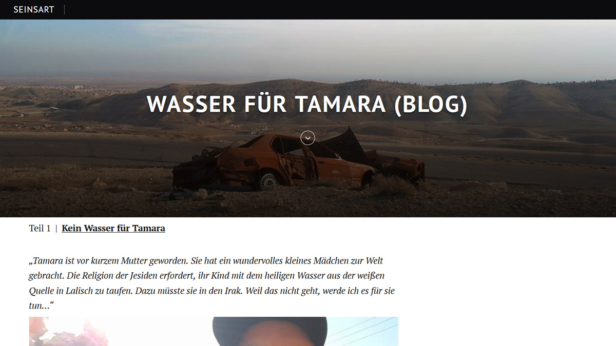"""Screenshot """"Wasser für Tamara"""""""