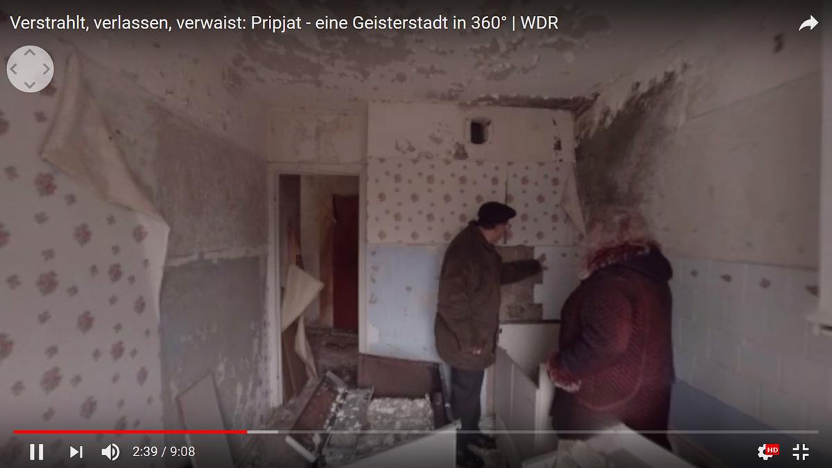 """Screenshot aus """"Verstrahlt, verlassen, verwaist: Pripjat – eine Geisterstadt in 360°"""""""