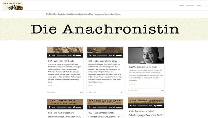 """Screenshot von """"Die Anachronistin"""""""