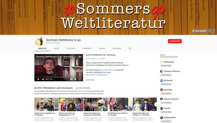 """Screenshot von """"Sommers Weltliteratur to go"""""""