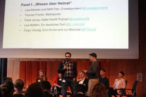 Özgür Uludag beim Panel I beim Social Community Day 2018, Foto: Georg Jorczyk/Grimme-Institut