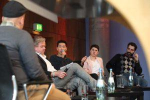Frank Joung beim Panel I beim Social Community Day 2018, Foto: Georg Jorczyc/Grimme-Institut