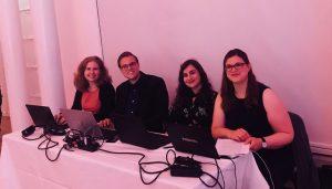 Vera Lisakowski, Fabian Hengstmann, Mine Aktas und Lisa Wolf bei der Preisverleihung des Grimme Online Award 2018, Foto: Nadine Aniol