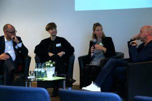 Diskussion über mögliche Erlösmodelle von digitalem Journalismus. Foto: Daniel Kunkel
