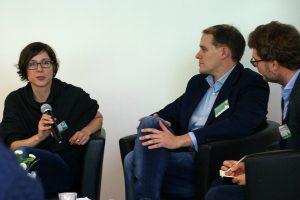Diskussion über die Erfolgs- und Misserfolgsfaktoren von Entrepreneurial Journalism. Foto: Daniel Kunkel