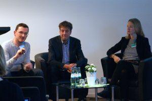 Diskussionsrunde über digitale journalistische Präsentationsformen. Foto: Daniel Kunkel