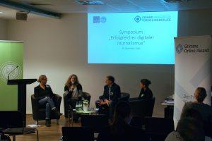 Diskussion über Journalistenpreise als mögliches Förderinstrument für digitalen Journalismus. Foto: Daniel Kunkel