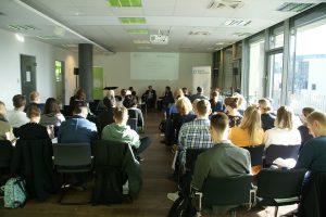 """Publikum beim Symposium """"Erfolgreicher digitaler Journalismus"""". Foto: Daniel Kunkel"""