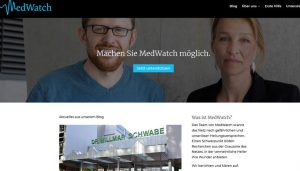 Screenshot: Medwatch