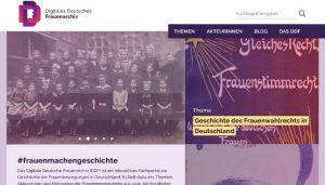 Screenshot: Digitales Deutsches Frauenarchiv